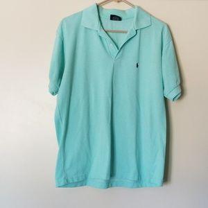 Mens polo sport xl light green t shirt